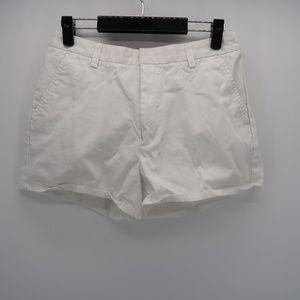 Calvin Klein Jeans White Flat Front Bermuda Shorts